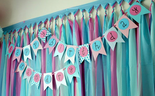 birthday party decorations paper fabric