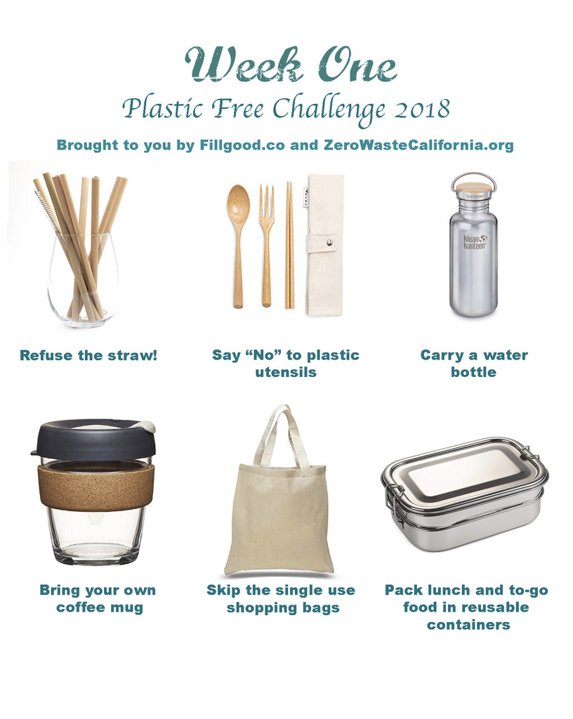Plastic free july challenge reusable