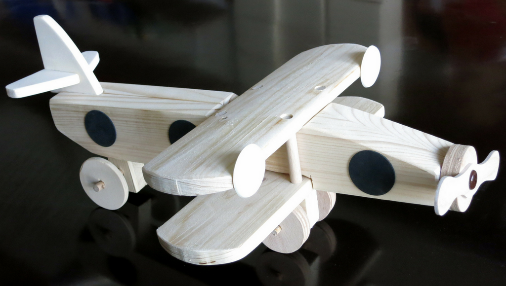 wooden plane toy zero waste