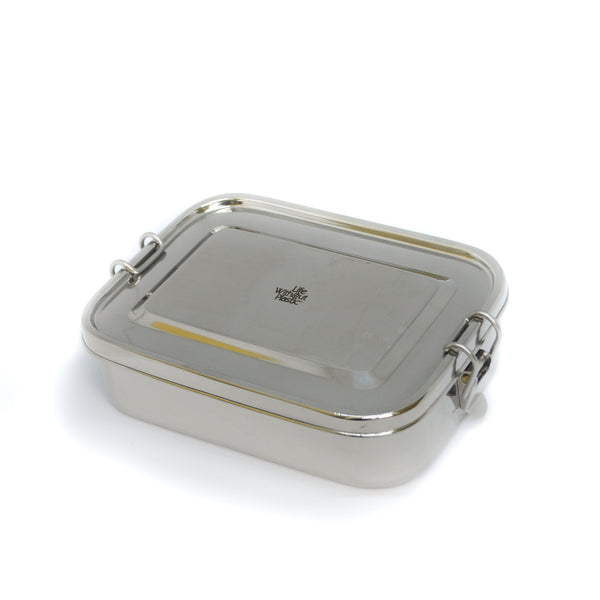 Stainless Steel Rectangular Food Storage Container with Seal - 54oz