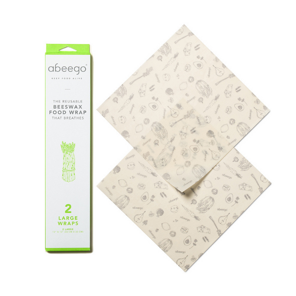 Beeswax Wraps, Pack of 2 Large