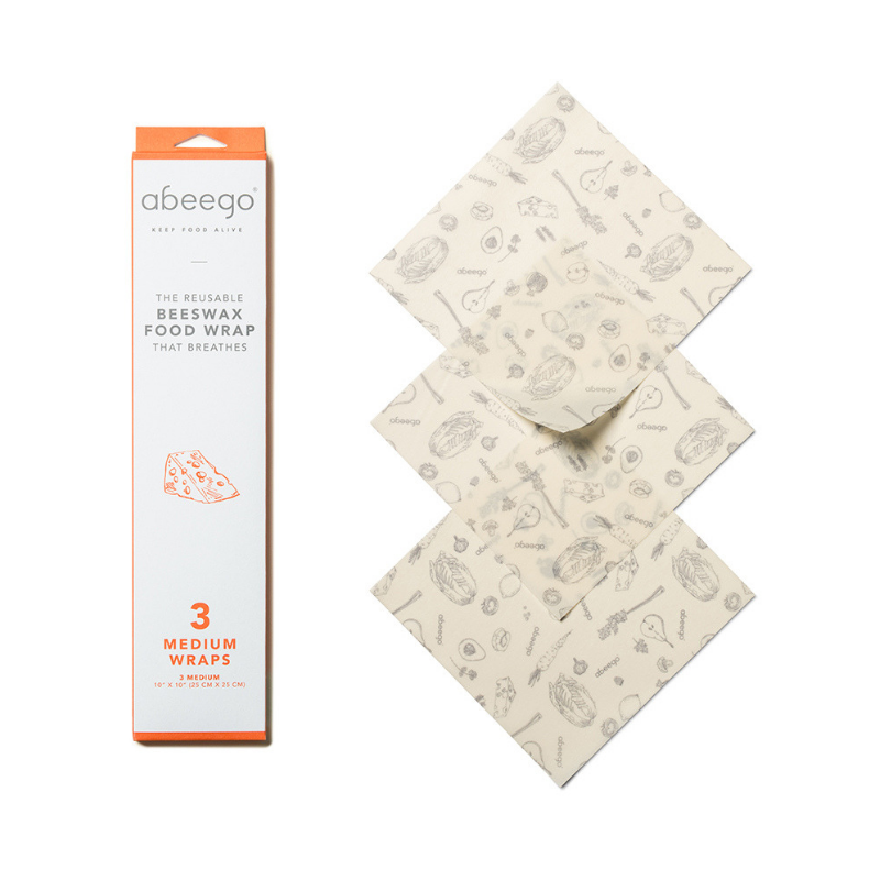 Beeswax Wraps, Pack of 3 Medium