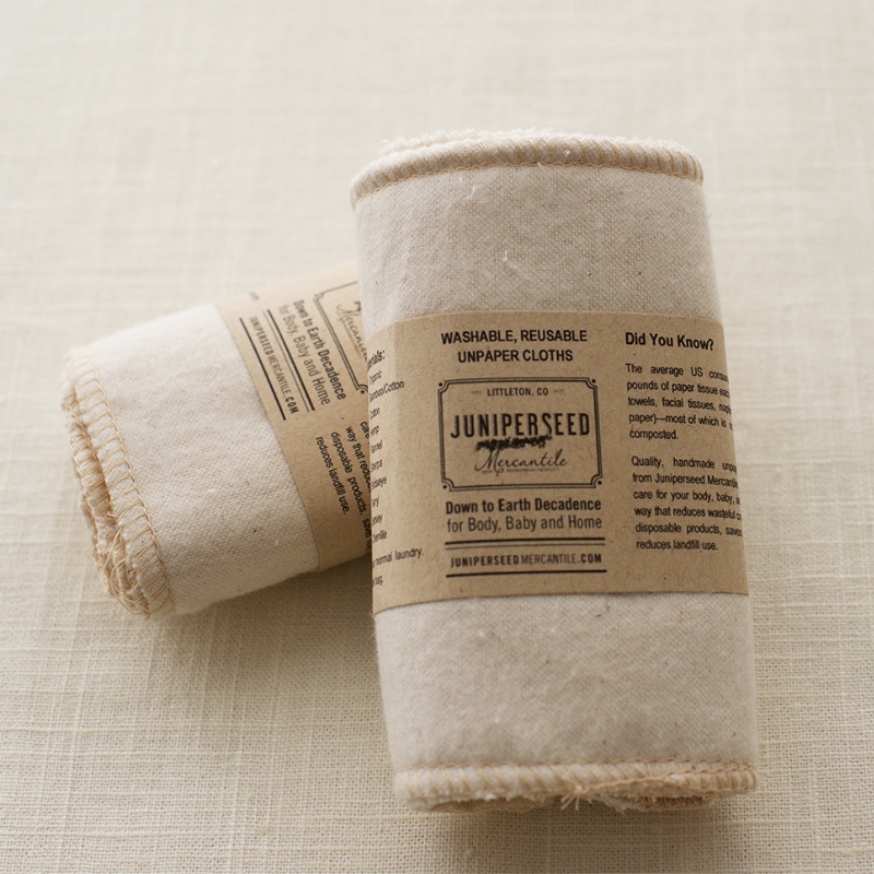 12 Organic Cotton Flannel Cloth Wipes