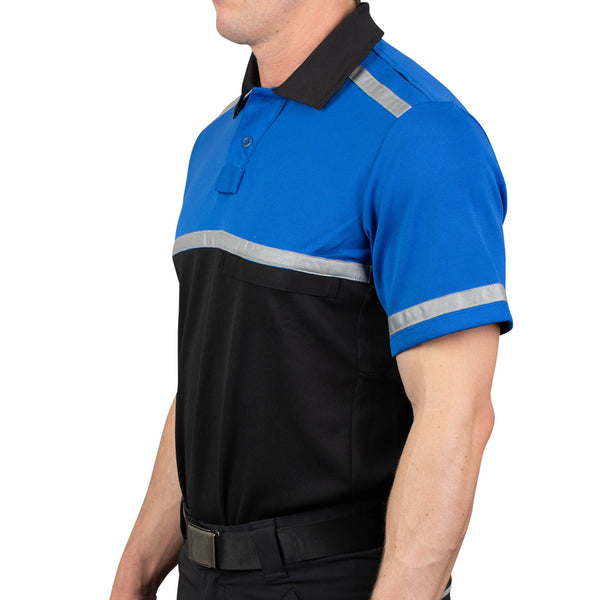 Cycling Patrol Polo Shirt Royal/Black