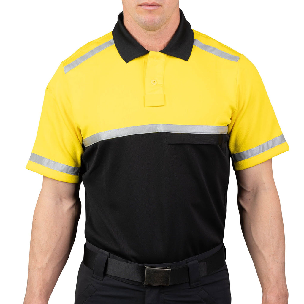 Cycling Patrol Polo Shirt Yellow/Black