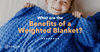 sleeping with weighted blanket blog post