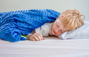 child sleeping weighted blanket