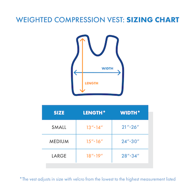 compression vest sizing chart