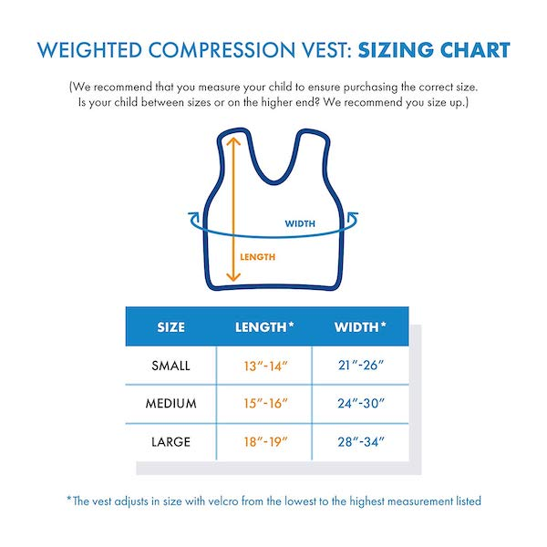 compression vest size chart