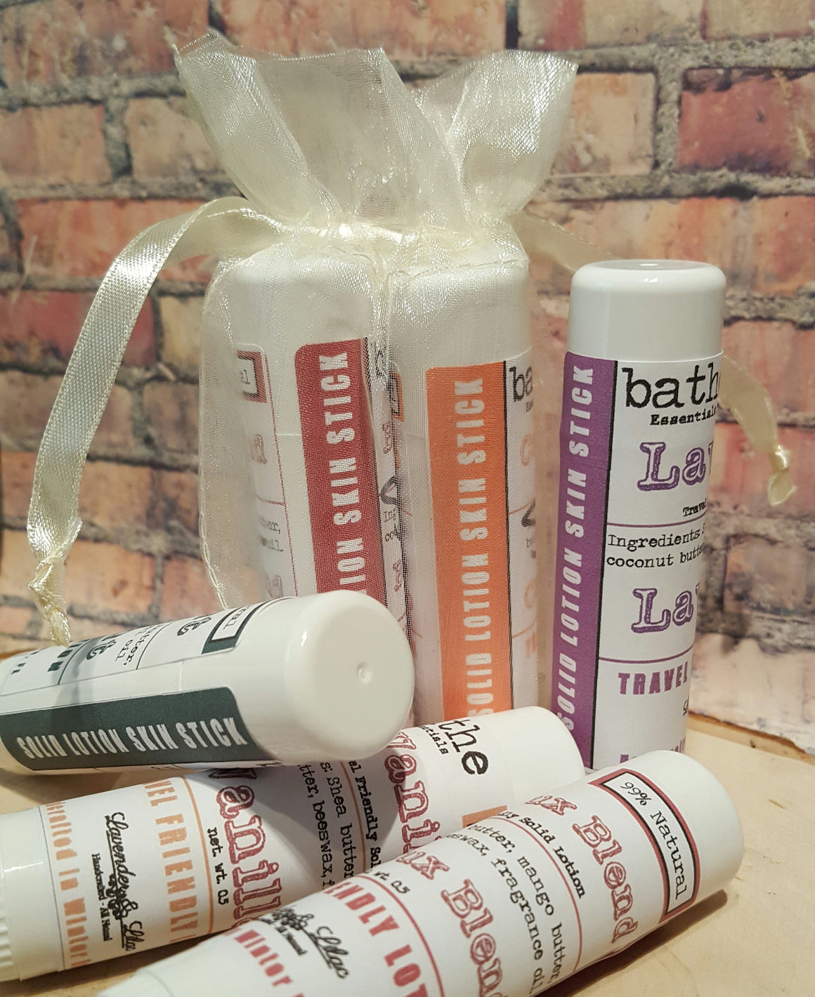 Bag o' Solid Lotion Skin Sticks - Lavender & Lilac