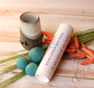 Almond & Honey Solid Lotion Skin Stick - Lavender & Lilac