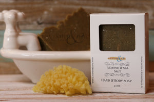 Almond & Sea Salt Soap - Lavender & Lilac