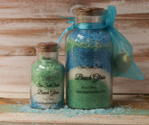 Beach Glass Sea Salt Bath Soak - 6 oz. - Lavender & Lilac