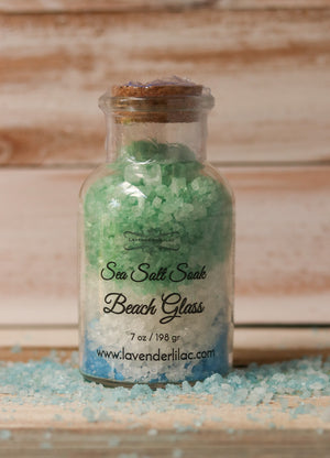 Beach Glass Sea Salt Bath Soak - 22 oz. - Lavender & Lilac