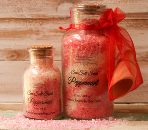 Peppermint Sea Salt Bath Soak - 22 oz. - Lavender & Lilac