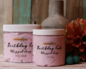 Birthday Cake Whipped Face & Body Soap - Lavender & Lilac