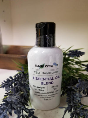 Home RemeCBDy Essential Oil Blend Lotion - 200 mg - Lavender & Lilac