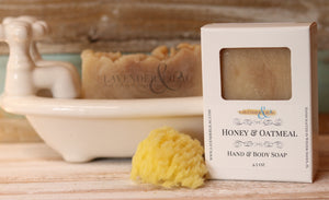 Honey & Oatmeal Soap - Lavender & Lilac
