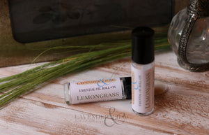 Lemongrass Essential Oil Roll On - Lavender & Lilac