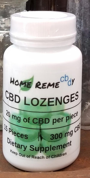 Home Remecbdy Spearmint Lozenges CBD Hard Candy - 300 mg - Lavender & Lilac