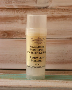 Lemongrass & Bergamot Pit Stick All Natural Deodorant - Lavender & Lilac