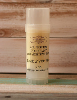Lime & Vetiver Pit Stick All Natural Deodorant - Lavender & Lilac