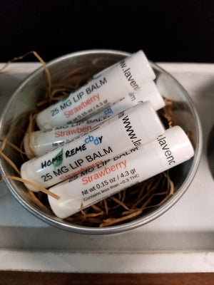 Home RemeCBDy Strawberry Lip Balm - 25 mg - Lavender & Lilac