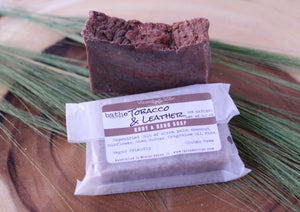 Tobacco Leather Soap - Lavender & Lilac