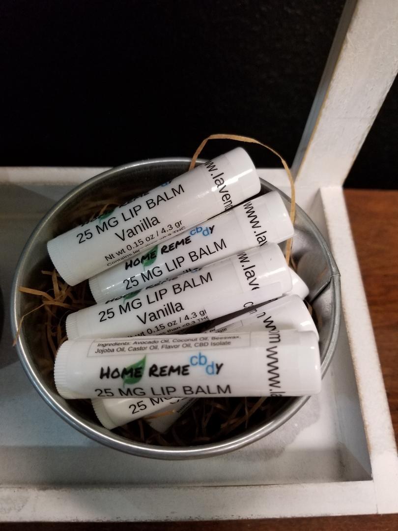 Home RemeCBDy Vanilla Lip Balm - 25 mg - Lavender & Lilac
