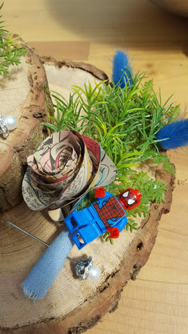 Spiderman Comic Book Buttonhole