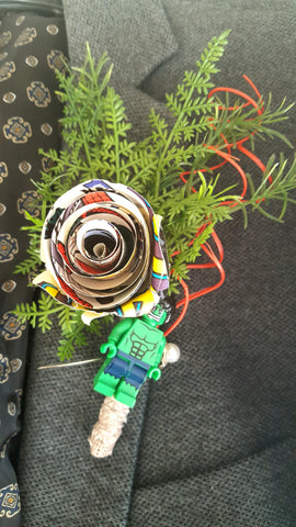 Hulk Comic Book Buttonhole
