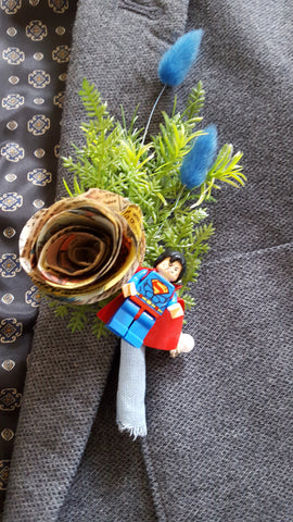 Superman Comic Book Buttonhole