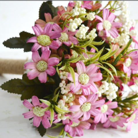 Woodland Wedding Bouquet in Flirty Pink