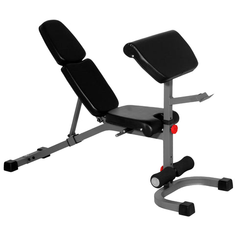 XMark FID Flat Incline Decline Weight Bench with Preacher Curl XM-4417 - Home Gyms Depot