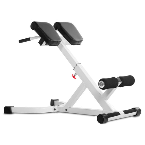 XMark 45 Degree Ab Back Hyperextension Roman Chair XM-4428-WHITE - Home Gyms Depot