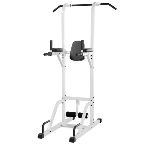 XMark VKR Vertical Knee Raise with Dip and Pull-up Station Power Tower XM-4432-WHITE - Home Gyms Depot