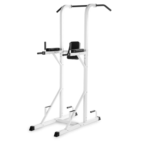 XMark Power Tower with Dip Station and Pull Up Bar XM-4434-WHITE - Home Gyms Depot
