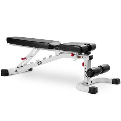XMark 11-Gauge FID Flat Incline Decline Bench XM-7472-WHITE - Home Gyms Depot