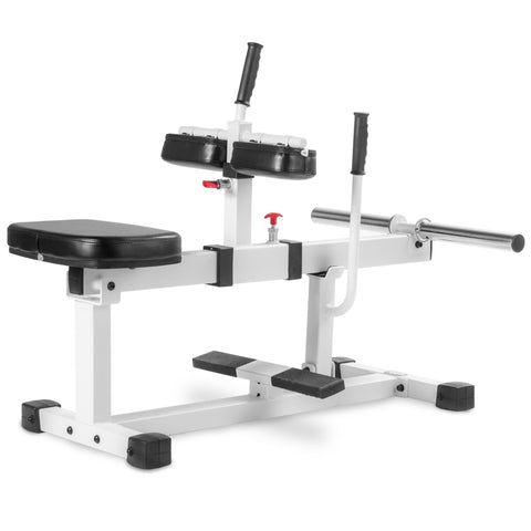 XMark Seated Calf Raise Machine XM-7613-WHITE - Home Gyms Depot