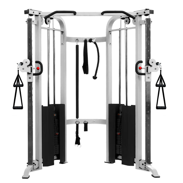 XMark Functional Trainer Cable Machine with Dual 200 lb Weight Stacks XM-7626-White - Home Gyms Depot