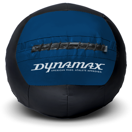 Dynamax Medicine Ball Standard Collection Black/Blue.    BONUS - Free Exercise Brochure! - Home Gyms Depot