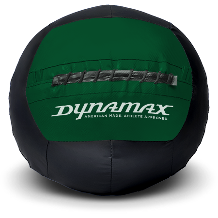 Dynamax Medicine Ball Standard Collection Black/Green.    BONUS - Free Exercise Brochure! - Home Gyms Depot