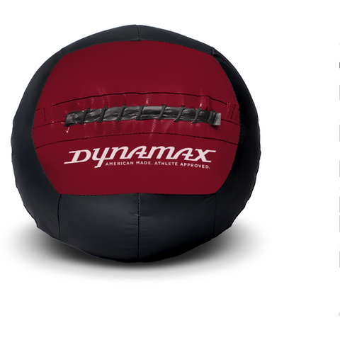 Dynamax Medicine Ball Standard Collection Black/Maroon.    BONUS - Free Exercise Brochure! - Home Gyms Depot
