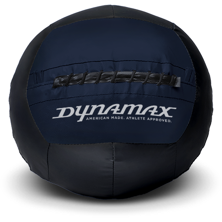 Dynamax Medicine Ball Standard Collection Black/Navy.    BONUS - Free Exercise Brochure! - Home Gyms Depot