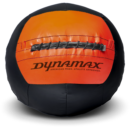 Dynamax Medicine Ball Standard Collection Black/Orange.    BONUS - Free Exercise Brochure! - Home Gyms Depot