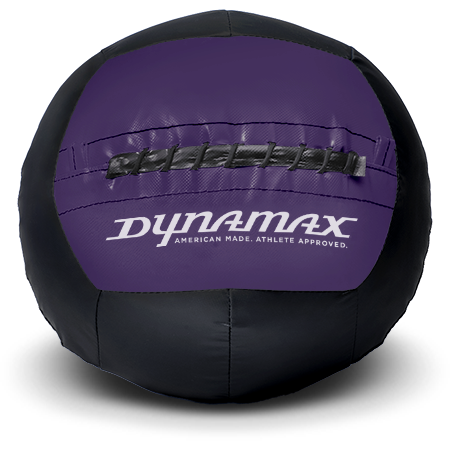 Dynamax Medicine Ball Standard Collection Black/Purple.    BONUS - Free Exercise Brochure! - Home Gyms Depot