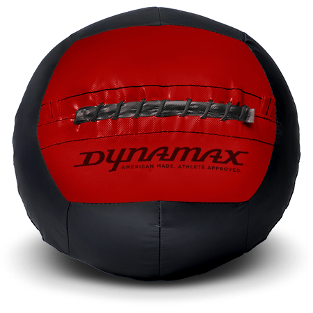 Dynamax Medicine Ball Standard Collection Black/Red.    BONUS - Free Exercise Brochure! - Home Gyms Depot
