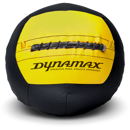 Dynamax Medicine Ball Standard Collection Black/Yellow.    BONUS - Free Exercise Brochure! - Home Gyms Depot