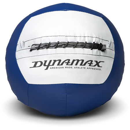 Dynamax Medicine Ball Standard Collection Blue/Gray. BONUS - Free Exercise Brochure! - Home Gyms Depot