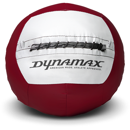 Dynamax Medicine Ball Standard Collection Maroon/Gray.    BONUS - Free Exercise Brochure! - Home Gyms Depot